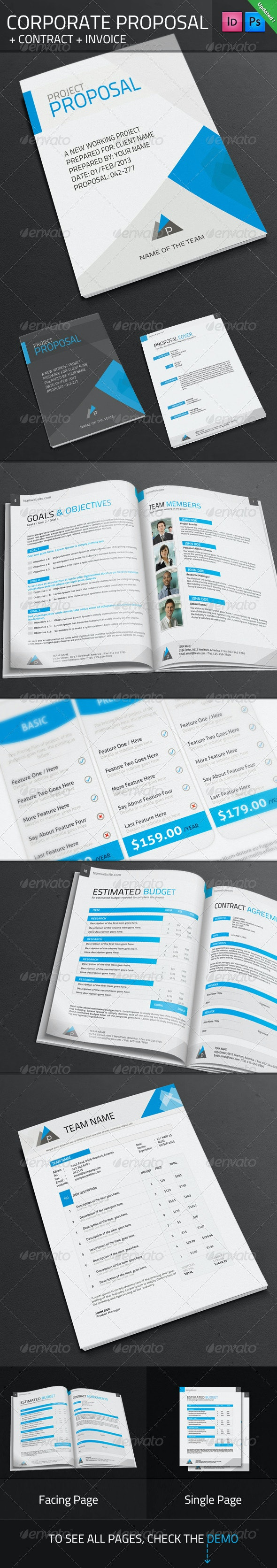 Corporate Proposal + Contract + Invoice - Proposals & Invoices Stationery