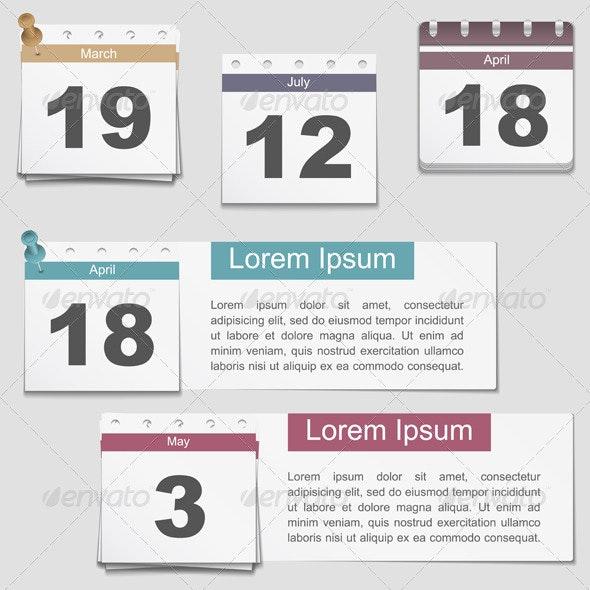 Calendar Pages - Objects Vectors