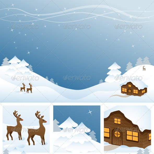 Winter Scene Background