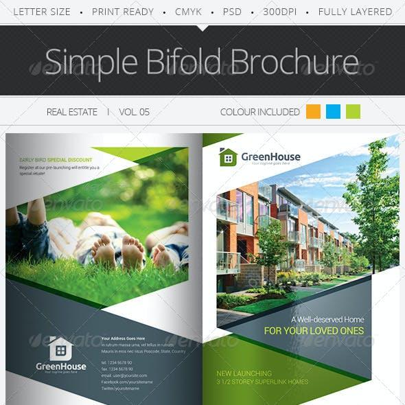 Simple Bifold Brochure Vol.05