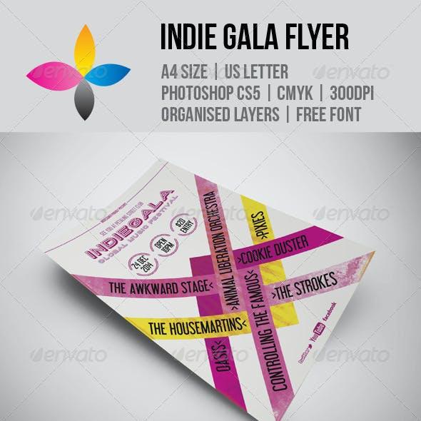 Indie Gala Flyer