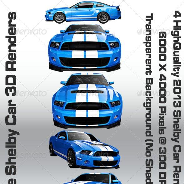 Blue Shelby 3D Renders