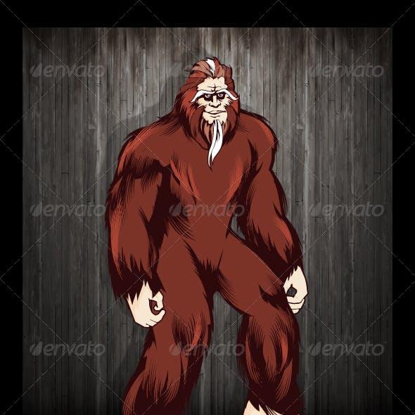 Bigfoot Mascot Character