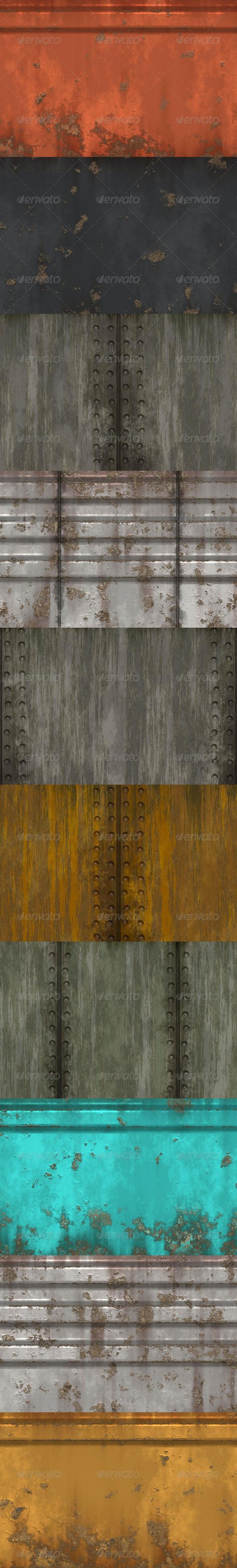 10 Metal Wall Textures - Industrial / Grunge Textures