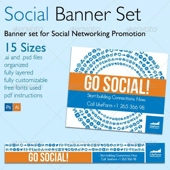 Go Social Banner Set