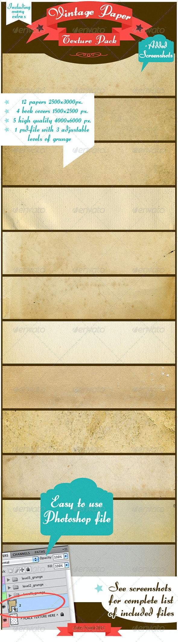 Antique Paper Texture Pack - Paper Textures