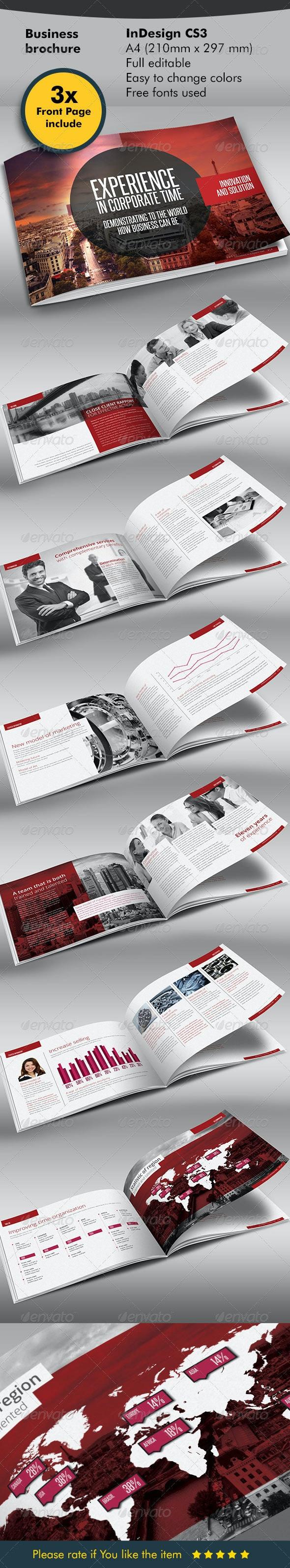 Red Black Design Brochure - Corporate Brochures