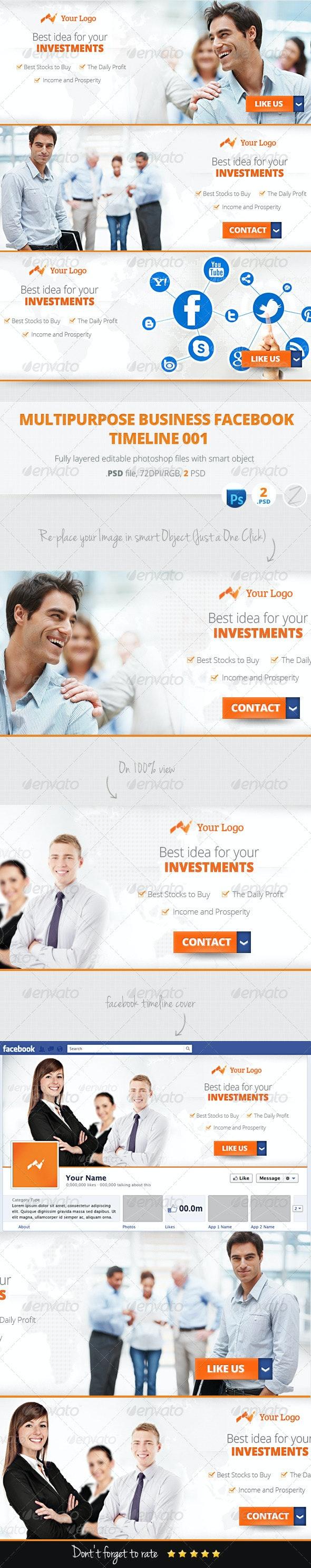 Multipurpose Business Marketing Facebook Cover 001 - Facebook Timeline Covers Social Media
