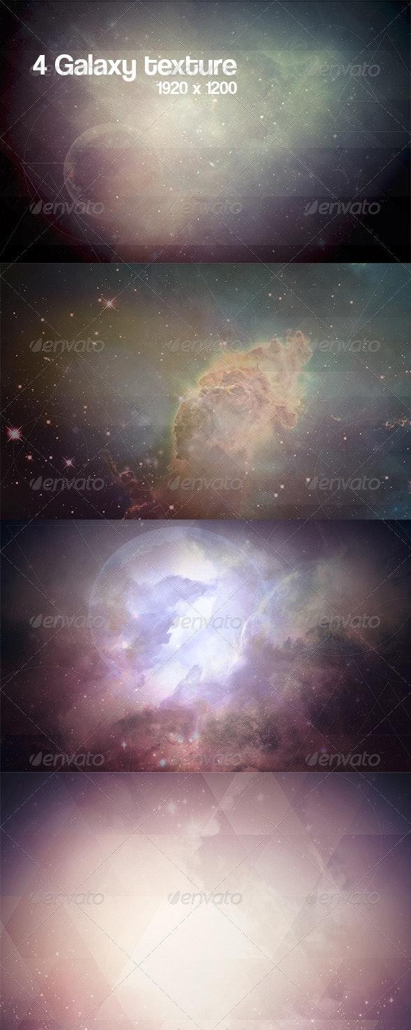 4 Galaxy Geometric Textures  - Space / Celestial Textures