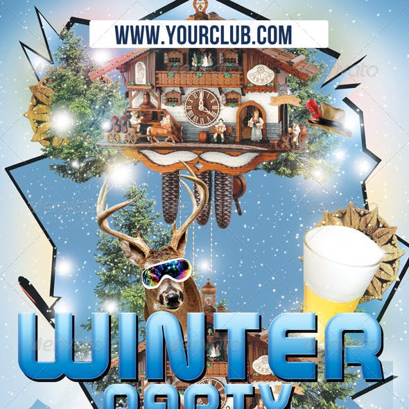 Flyer Template Winter Party