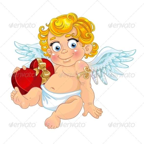 Cupid with Box of Candy