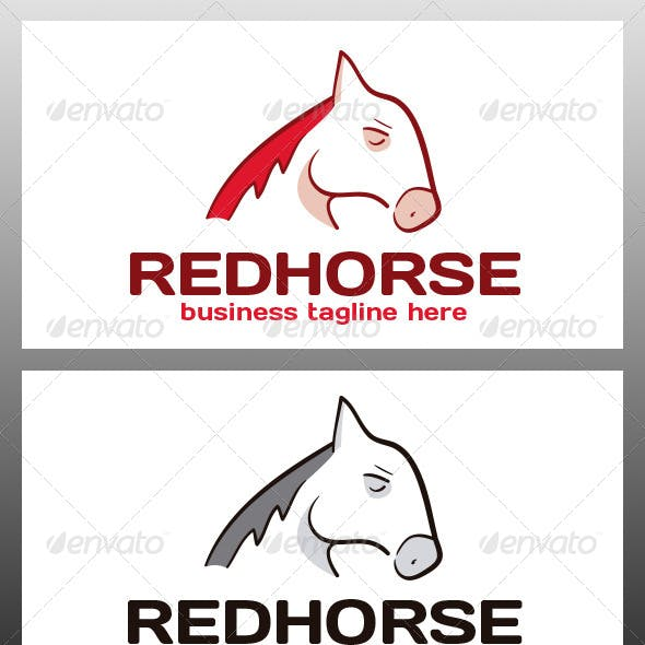 Red Horse Logo Template
