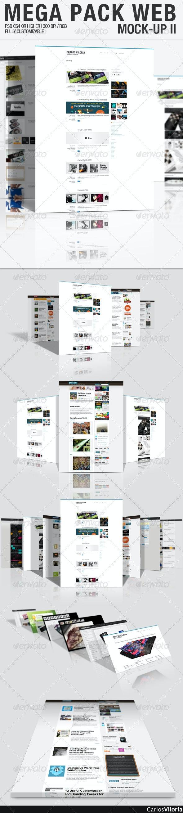 Mega Pack WEB Mock-Up 2  - Website Displays