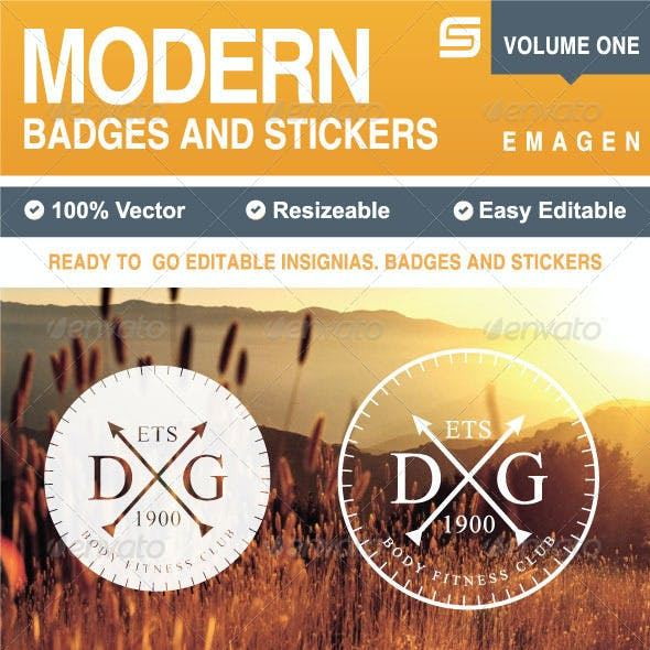 Modern Badges and Stickers V1