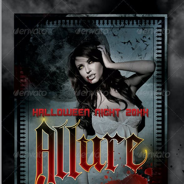 Allure Halloween Flyer