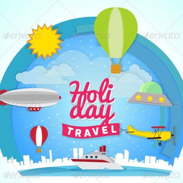 Holiday Travel Concept Illustration