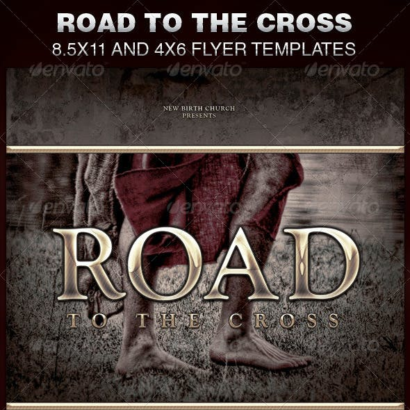 Road to the Cross Church Flyer Template