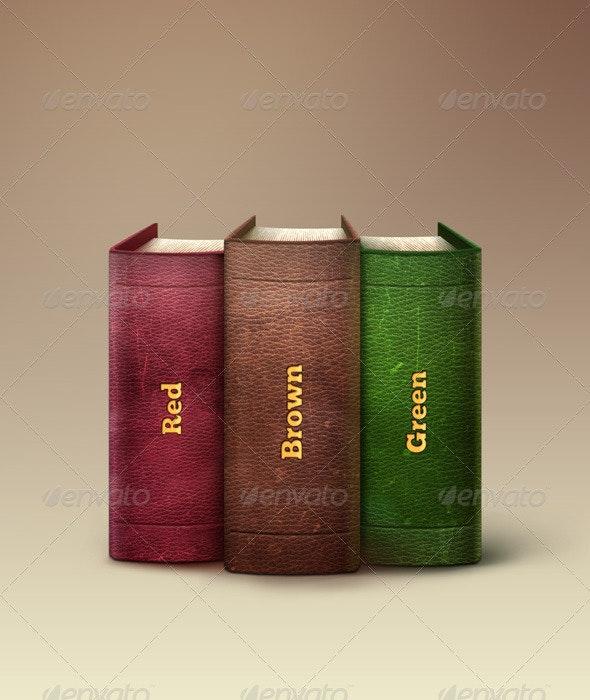 Three Books HQ Illustration - Objects Illustrations
