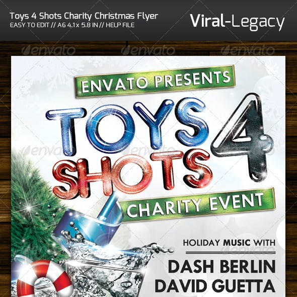 Toys 4 Shots Christmas Charity Flyer