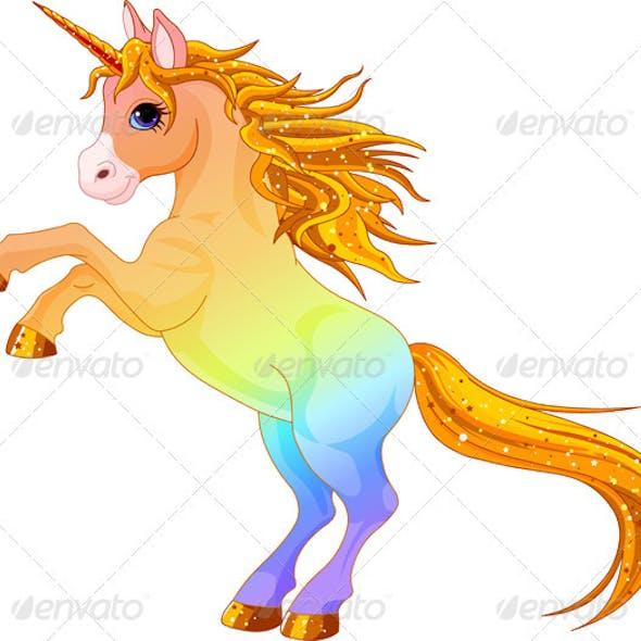 Rainbow colored unicorn