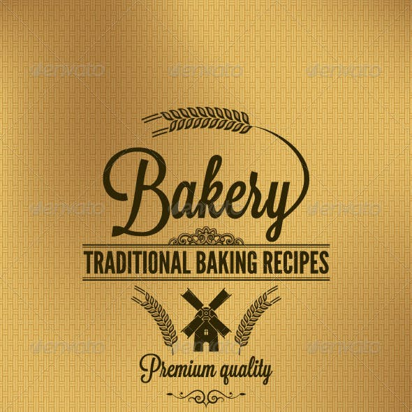 Bakery Vintage Label Background