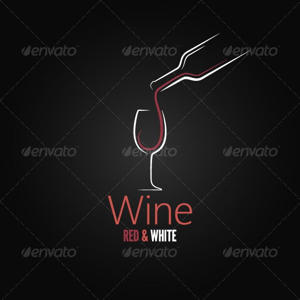 Wine Concept Ornate Design