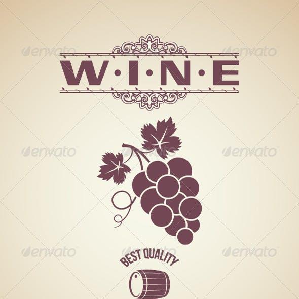 Wine Vintage Label Design