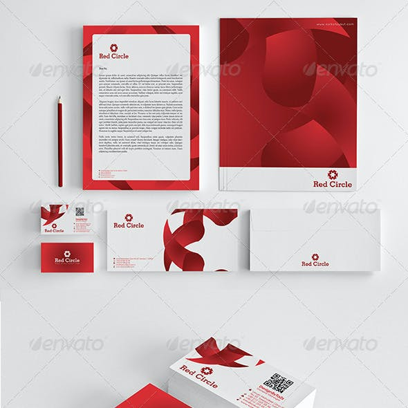 Red Circle Corporate Identity Package