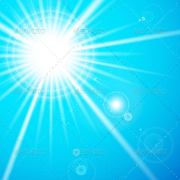 Star and Sun with Lens Flare - Backgrounds Decorative