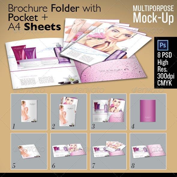 Brochure Folder Sheets Mock Up