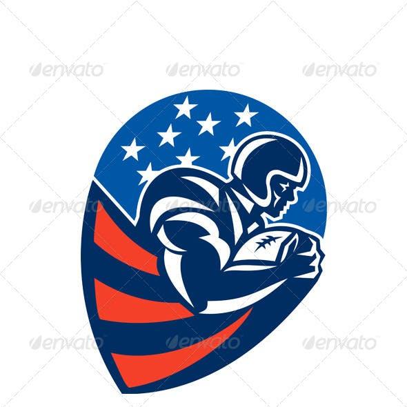 American Football Rushing Running Back