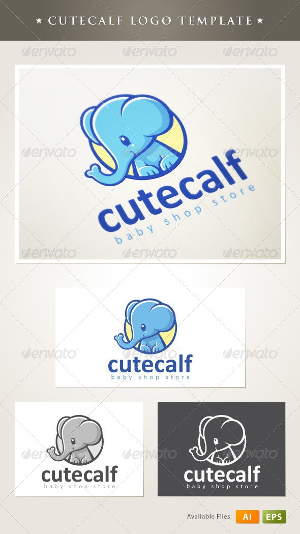 Cutecalf Logo Template - Animals Logo Templates