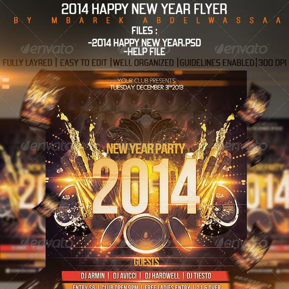2014 Happy New Year Flyer