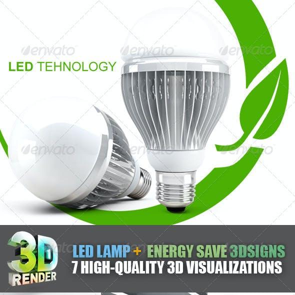 LED Lamp Energy Save Set