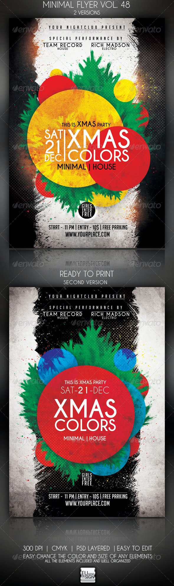 Minimal Flyer Vol. 48 - Clubs & Parties Events