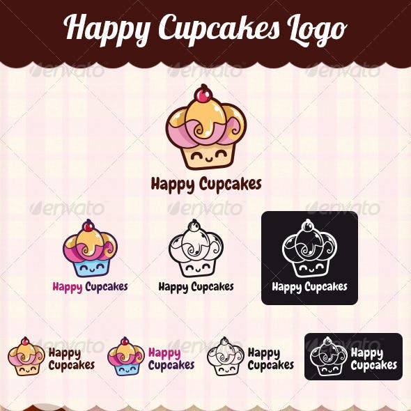 Happy Cupcakes Logo