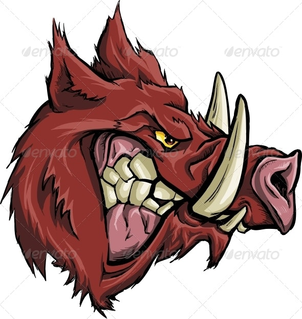 Angry Boar - Animals Characters