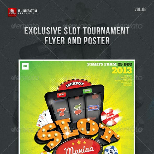 Slot Tournament Flyer and Poster