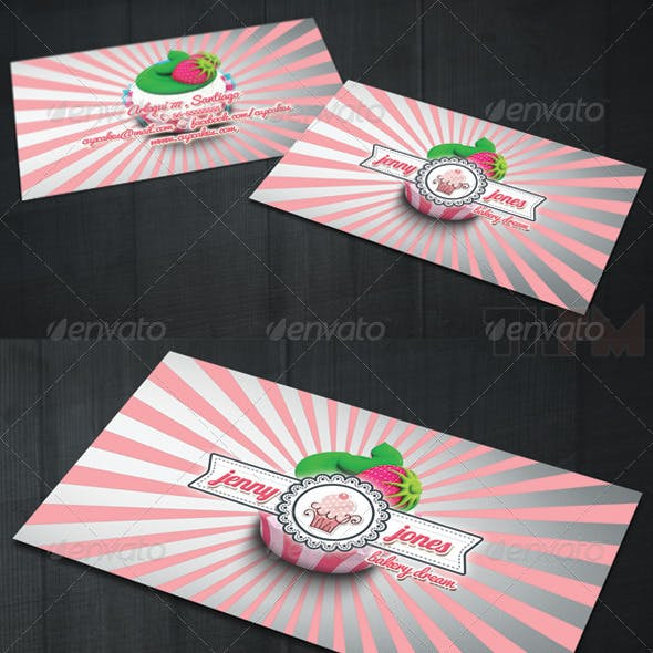 Bakery and Cupcakes Business Card