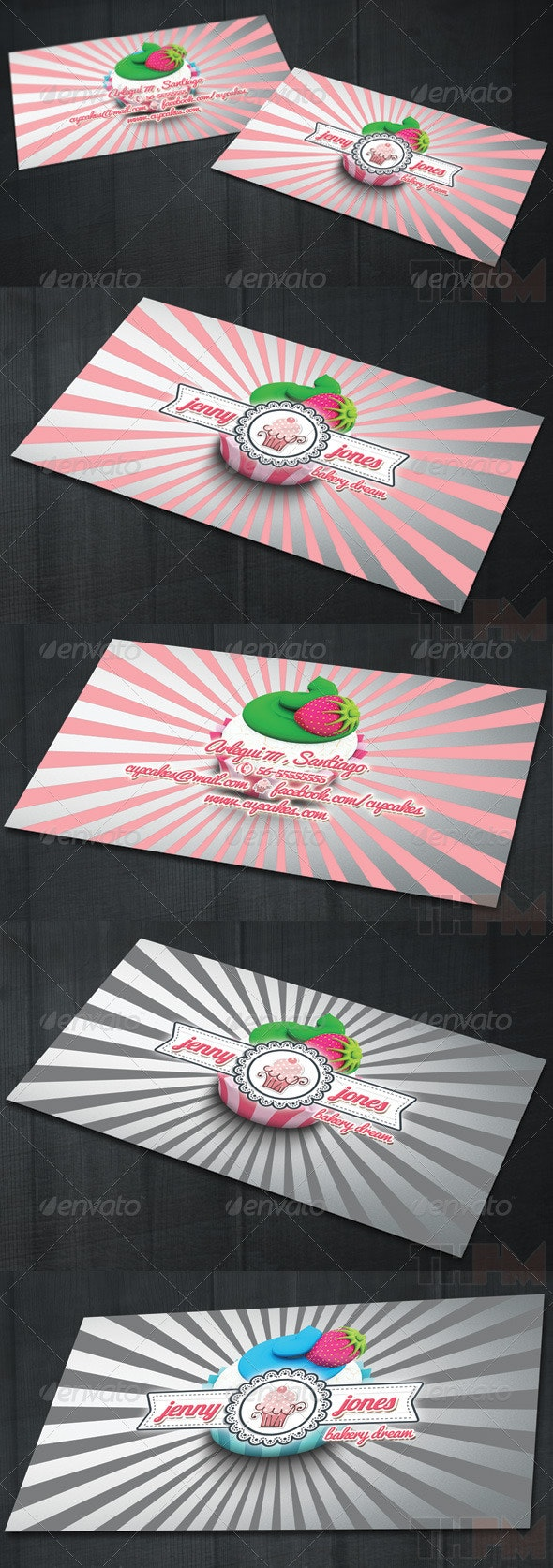 Bakery and Cupcakes Business Card - Creative Business Cards