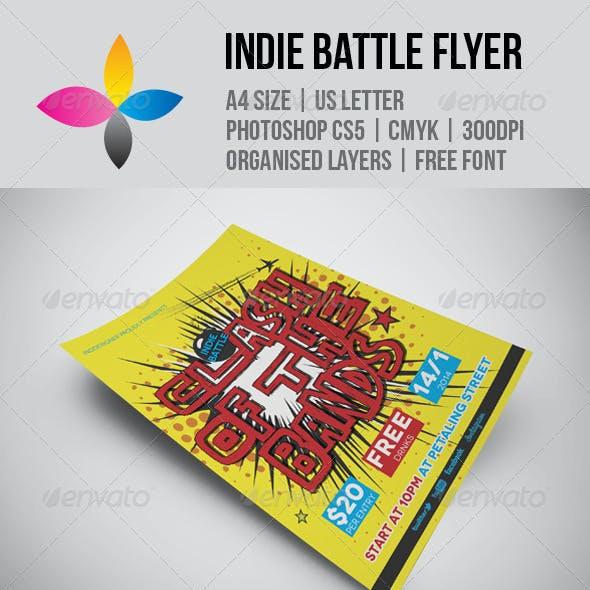 Indie Battle Flyer