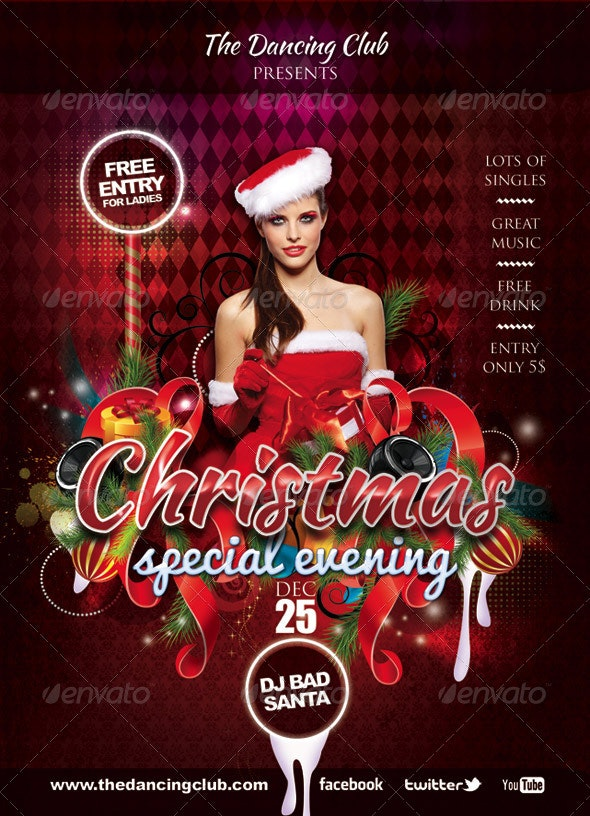 Flyer Dancing Club Special Christmas Eve - Clubs & Parties Events