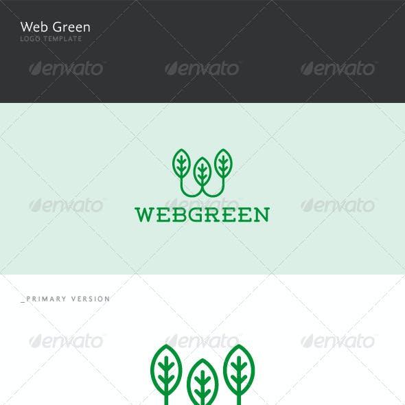 Web Green - W Letter Logo