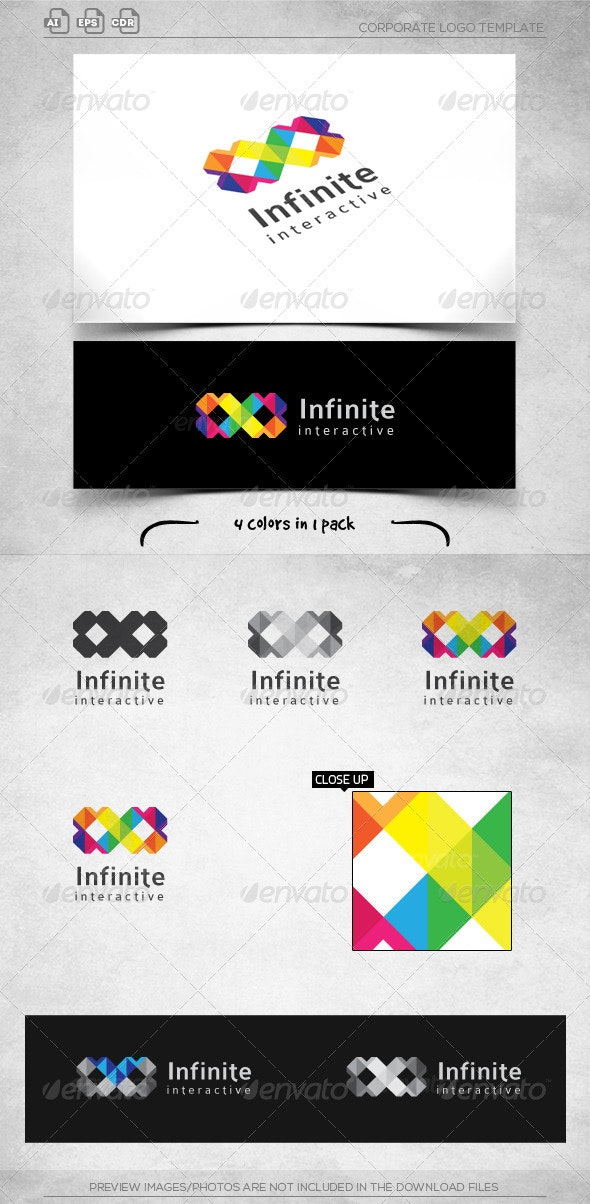 Square Infinite - Logo Template - Vector Abstract
