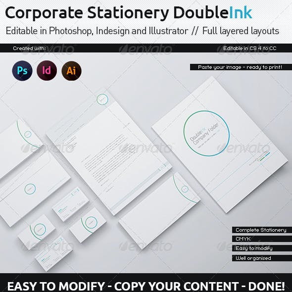 Corporate Stationery - DoubleInk White Edition