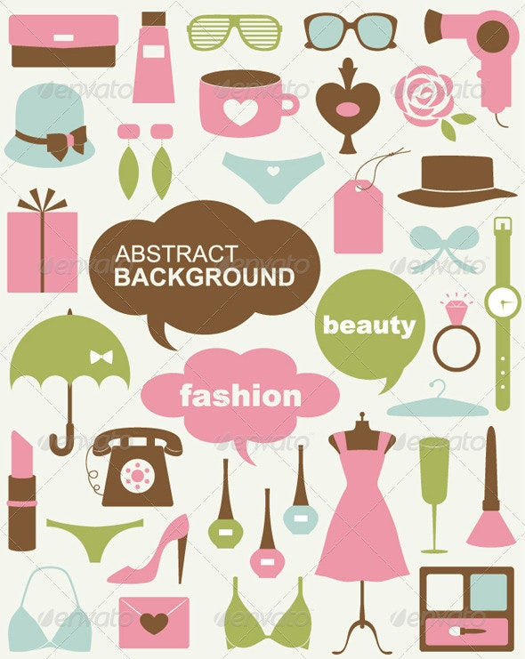 Vector Beauty And Fashion Icons  - Decorative Symbols Decorative