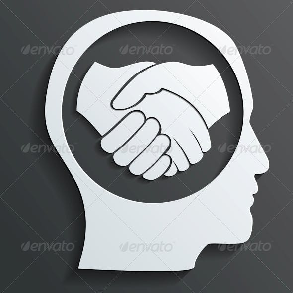 Handshake in the Head Vector