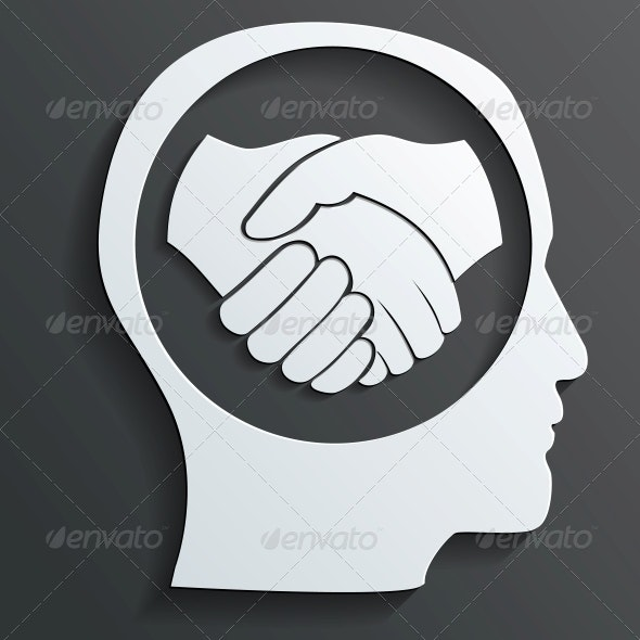 Handshake in the Head Vector - Concepts Business
