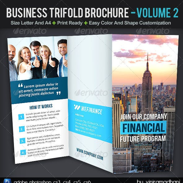 Business TriFold Brochure   Volume 2