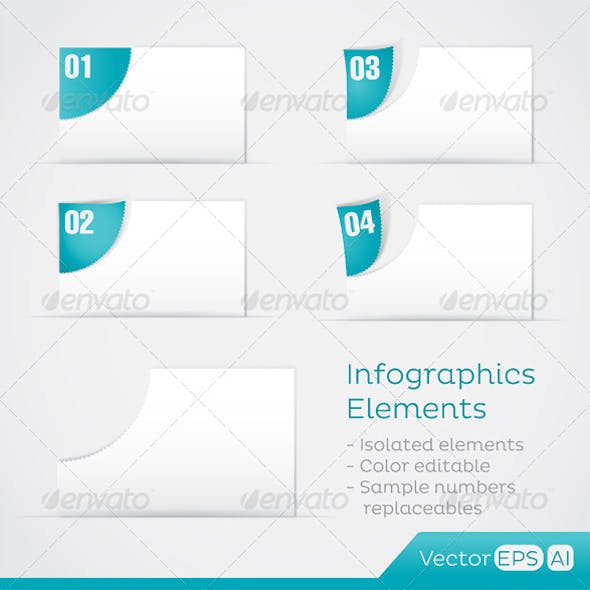 Paper Area Infographic Elements